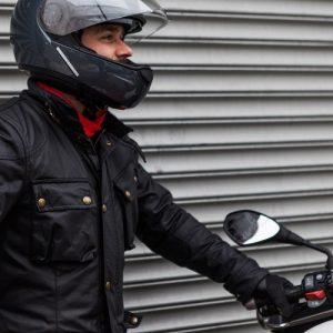 Black Belstaff Leather Jacket