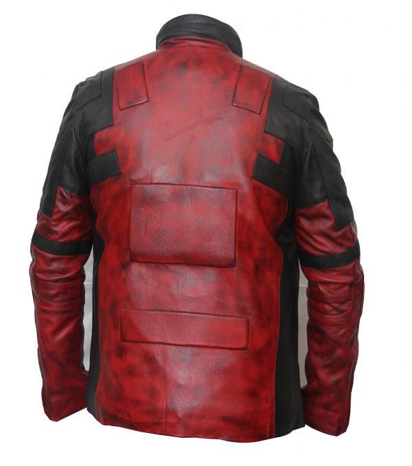 Dark Waxed Deadpool Jacket Real Leather