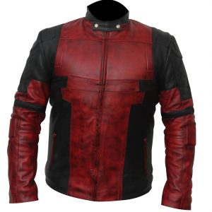 Dark Waxed Deadpool Jacket Real Leather