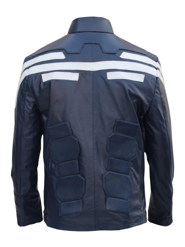 Mens Captain America Leather Jacket Costume