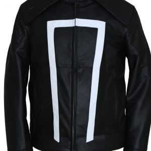 Ghost Rider Leather Jacket Biker Mens
