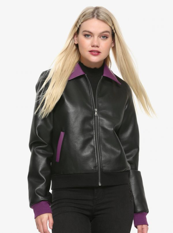 pretty poison leather jacket