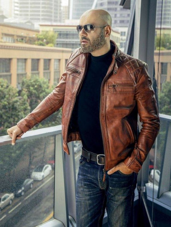 classic mens brown leather jacket