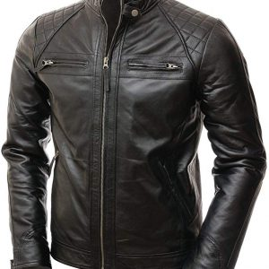 black cafe racer jacket leather