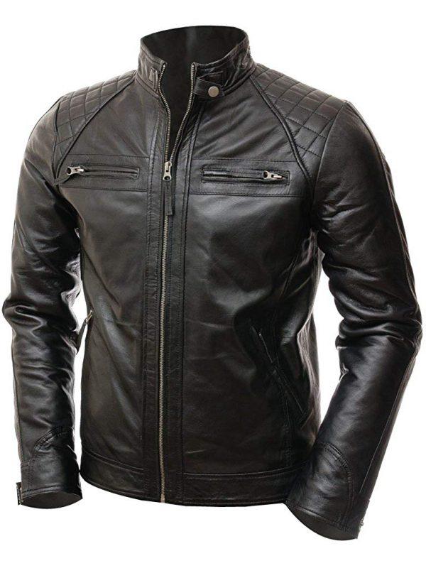 black cafe racer jacket leather