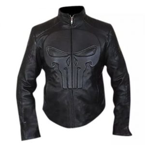 punisher leather jacket