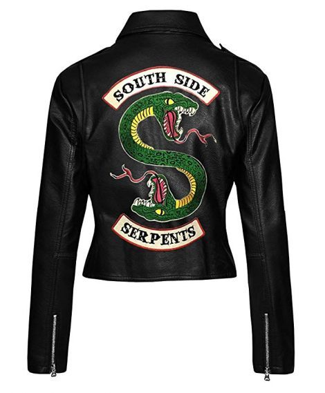womens black southside serpents leather jacket