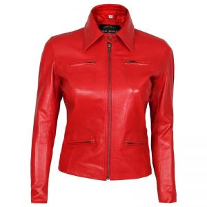Red Emma Swan Leather Jacket