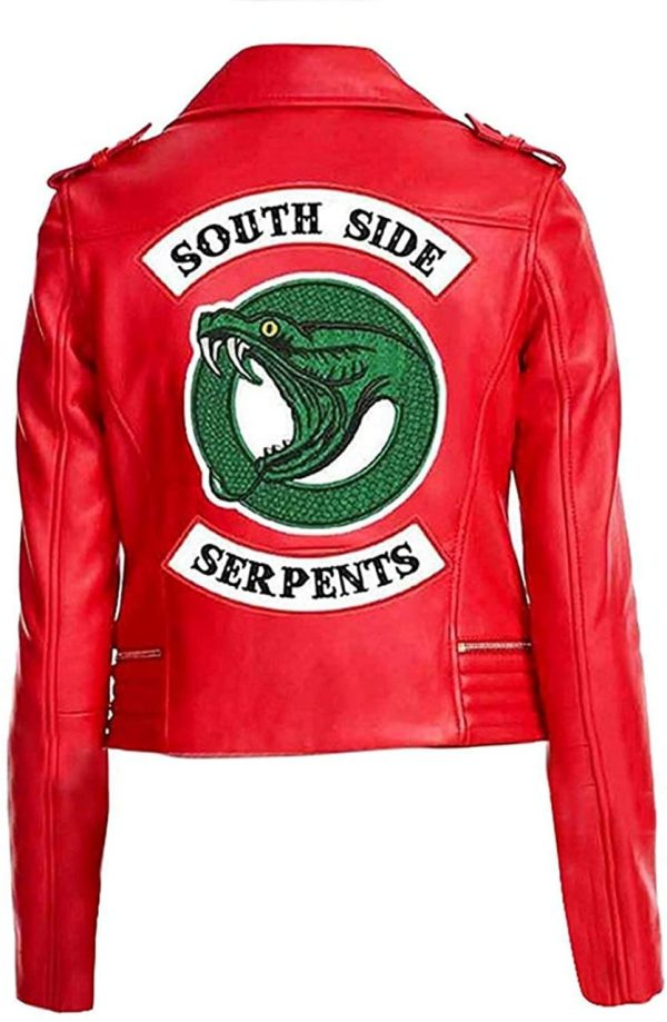 Women's Red Southside Serpents Leather Jacket