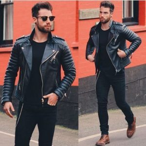Slim Fit Biker Leather Jacket