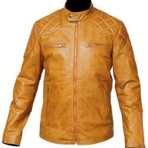 Mens Tan Leather Jacket