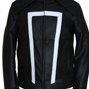 Ghost Rider Leather Jacket Biker Mens