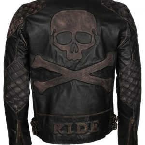 Mens Skull Leather Jacket