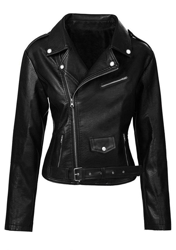 Alexa Chung Leather Jacket for sale