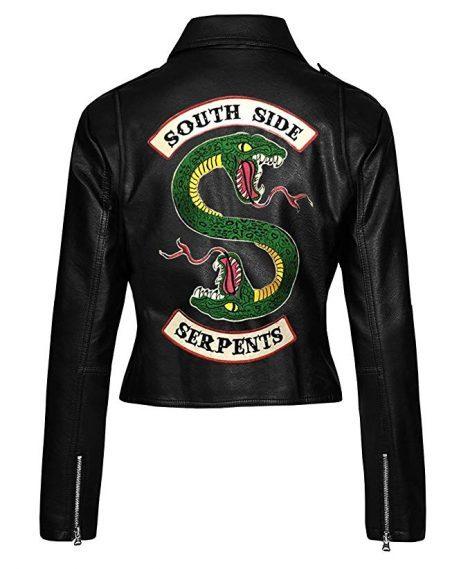 womens black southside serpents leather jacket