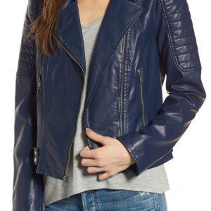 Asymmetrical Womens Blue Jacket