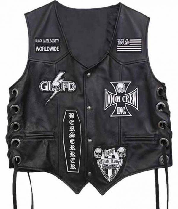 Black Label Society Leather Vest For Sale