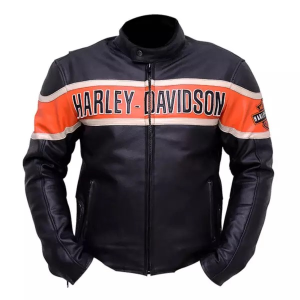 Harley Davidson Moto Racer Victory Leather Jacket